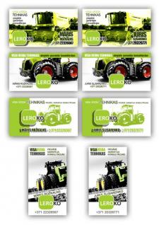 Варианты визиток для сельскохозяйственной компании