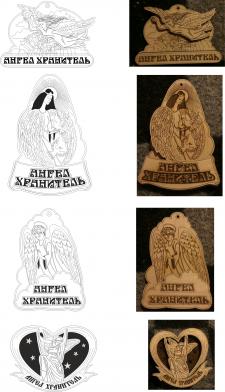 Авторские магниты ангелы разработка макетов
