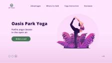 Landing page для Oasis Park Yoga