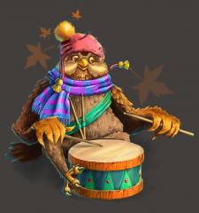 Филин-музыкант.
