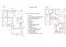 Общий план коттеджа без мебели с экспликацией
