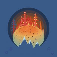 Fires in Siberia vector