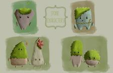Stone characters