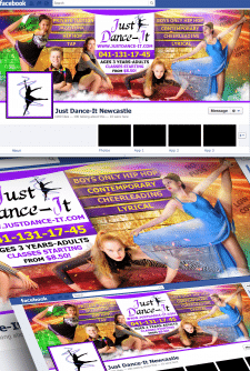 "Дизайн обложки facebook dance studio ""Just Dance-I"