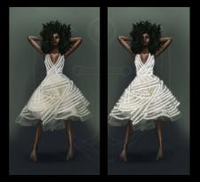 Светодиодная подсветка платья