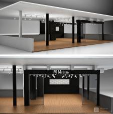Визуализация выставочного стенда мебельной компани
