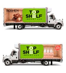 Реклама на грузовике.