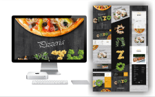"#Дизайн онлайн меню ресторану ""Pizzeria"" #"