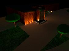 Дизайн проект по освещению фасада ресторана