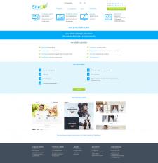 Создания дизайна для Site-Up.com.ua