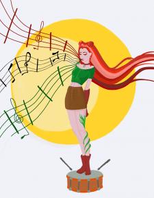 Девушка музыкант
