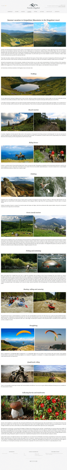 Summer in Carpathians аби чим зайнятися на курорті