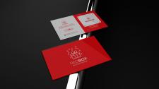 """Дизайн визитки для магазина подарков """"REDBOX"""""""