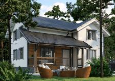 Визуализация дома в лесу №001