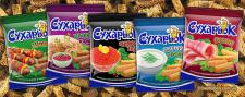 Дизайн упаковок сухариков «Сухарьок»
