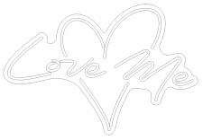 Макет неоновой вывески в Corel Draw