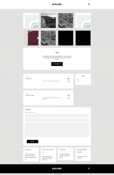 Сайт Black&White на WordPress