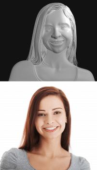 Портрет красивої дівчини