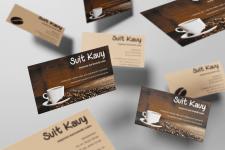 візитка для магазина кави Світ кави (ІІІ варіант)