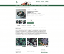 Flower Shop -  PRODUCT PAGE