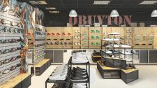 Интерьер магазина обуви в г.Донецке