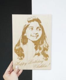 Портрет, прорисовка в векторе