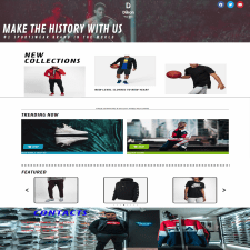 Landing Page для Dikon Sportswear and Shoes