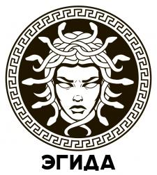 Логотип в виде щита Афины