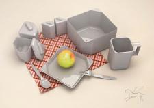 Походный набор посуды на одну персону