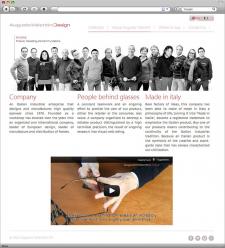 Сайт для итальянского производителя оправ