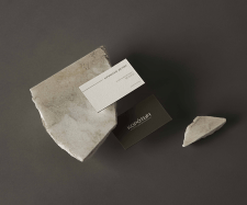 "Business cards for the ""Korotych"" brand"