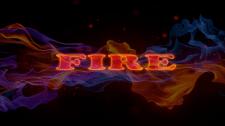 Надпись в огне