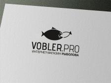 Логотип для интернет-магазина рыболова Vobler.rpo