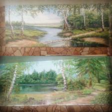 природа лес озеро