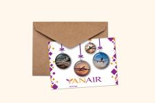 """открытка к новому году для компании """"YanAir"""""""