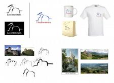 Логотип туристический. Страна Лихтенштейн