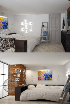 Частная квартира (спальня)