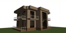 Проект 2 ух этажного дома без рендера
