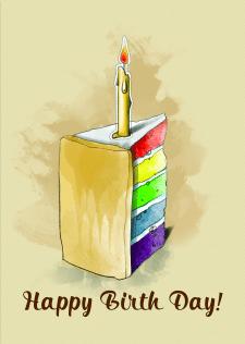 Greeting Cards - Happy Birth day