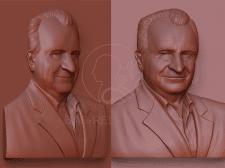 Моделирование 3Д портрета для мемориальной доски