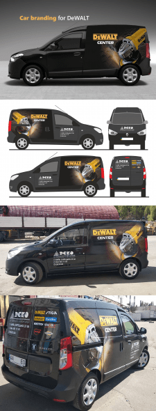 Car branding for DeWALT2
