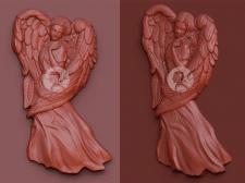 Создание барельефа ангела для резки надгробии на с