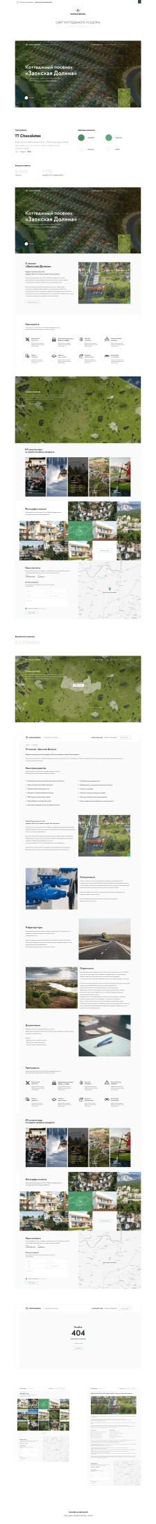 Дизайн многостраничного сайта - Коттеджный поселок