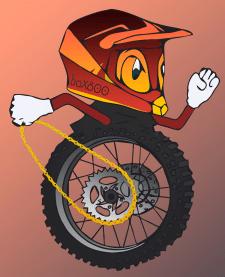 Отрисовка логотипа-иллюстрации по эскизу