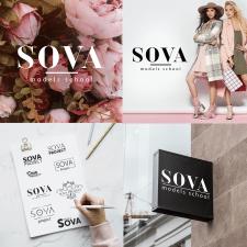 Разработка лого для модельной школы SOVA