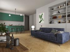 Кухня и большая комната