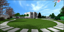 Стильный и лаконичный сад №3