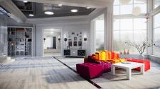 Минимализм в зале гостиной