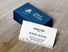 Двусторонние визитки для Риэлторской школы