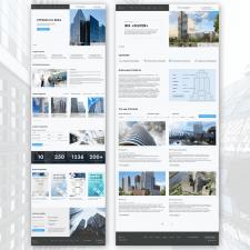 Корпоративный сайт для строительной компании.